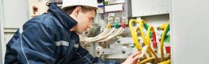 Engineer installing system