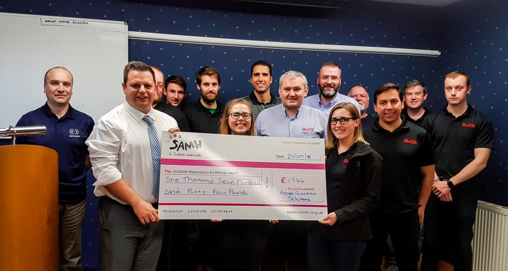 Elite Control Systems Limited raise £1744 for SAMH (Scottish Association for Mental Health)