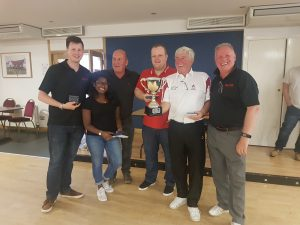 Winning team at the NBS-ECS annual Bowls day