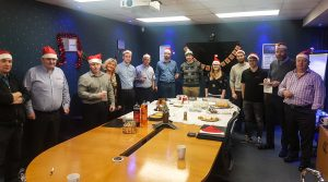 Colleagues from AGSL and Elite Control Systems compete in Christmas Bake Off